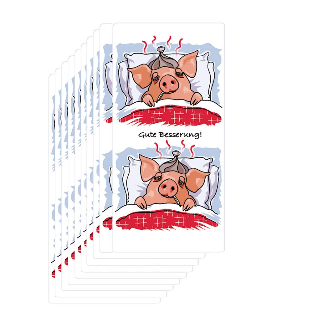 Fazzoletti a 4 veli in morbida cellulosa Gute Besserung//guarisci presto 24 pacchetti