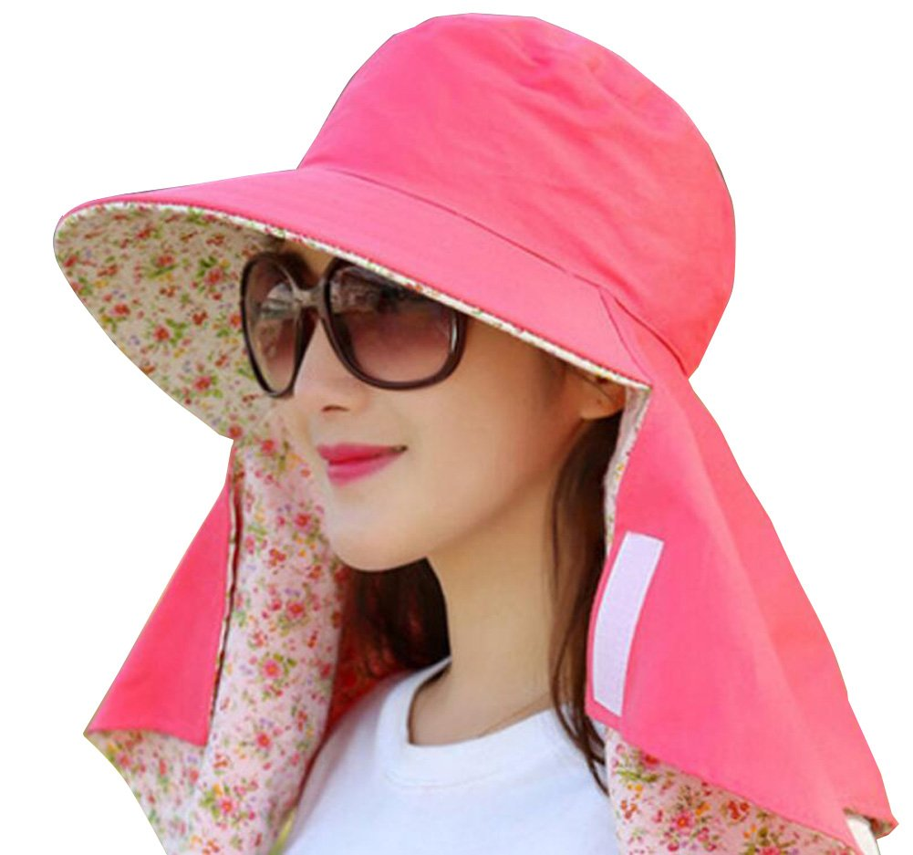 Women Sun Cap Flap Hats 360° Sun Shade Neck Face Protection Outdoor Sports Visor Hats Wide Brim Caps UV Protection Summer Sun Hats For Girl Lady (Black) erioctry