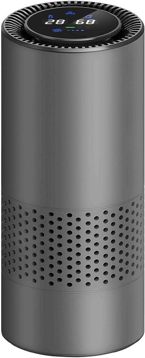 Control de gestos HEPA purificador de aire para los enfermos de alergia, eliminar el polvo de fumar polen y malos olores, perfecto para el escritorio de oficina de coche y dormitorio(Gris): Amazon.es: