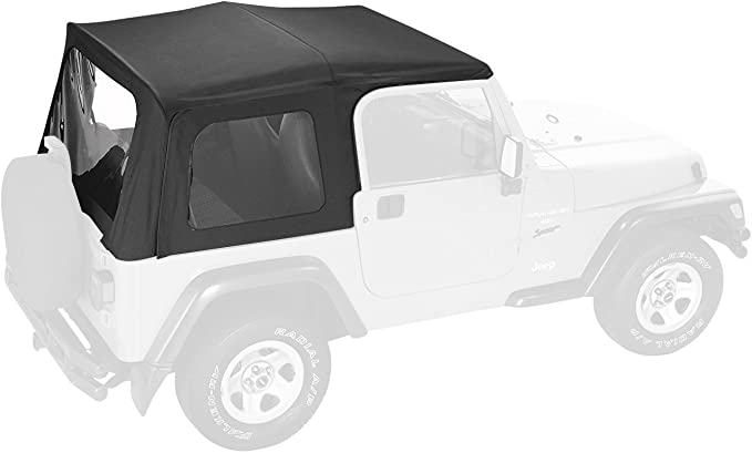 Pavement Ends by Bestop 51137-52 White Denim Replay Replacement Soft Top Clear Windows; No Door Skins Included for 1988-1994 Geo Tracker//Suzuki Sidekick