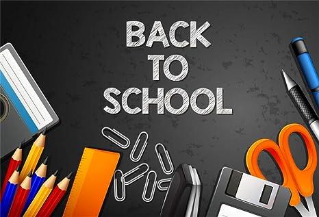 Amazon com : Leyiyi 10x6 5ft Welcome Back to School Backdrop
