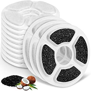 Replacement Filters for Kastty 3L Cat Water Fountain, 12 Pack Food Grade Water Fountain Filter for Kastty Fountain and Other Cat Water Dispenser, Made of Activated Carbon and PP Cotton