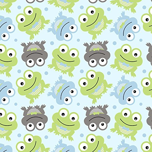Frog Finished (Frogs Fleece Throw Blanket with Finished Edges)