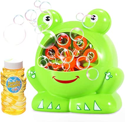 Party and Gift or Play to Use Kids Fun 800 Bubbles Per Minute Geekper Automatic Bubble Machine Toy with AC Adaptor for Kids