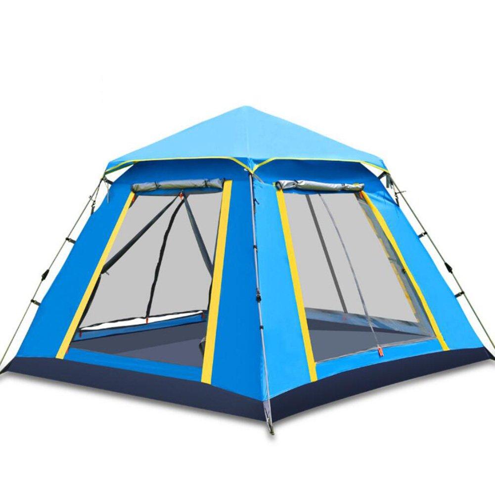 3 4 Personen Zelt Sonnencreme Strand Zelt Familie Camping Ausrüstung Zelt Vollautomatische Edelstahl Zelt Wasserdicht Regen-Beweis Für Camping