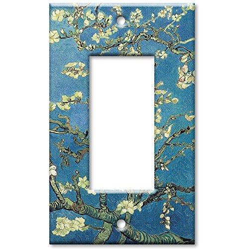Single Gang Rocker Wall Plate - Van Gogh: Almond Blossoms
