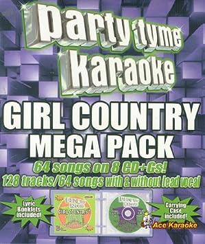Party Tyme Karaoke CDG - Girl Country Mega Pack - Amazon com