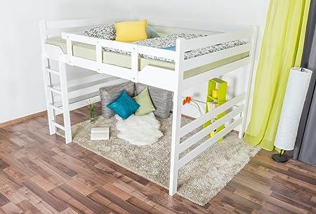 Etagenbett 80 160 : Erst holz etagenbett extra stabil weiß nische cm