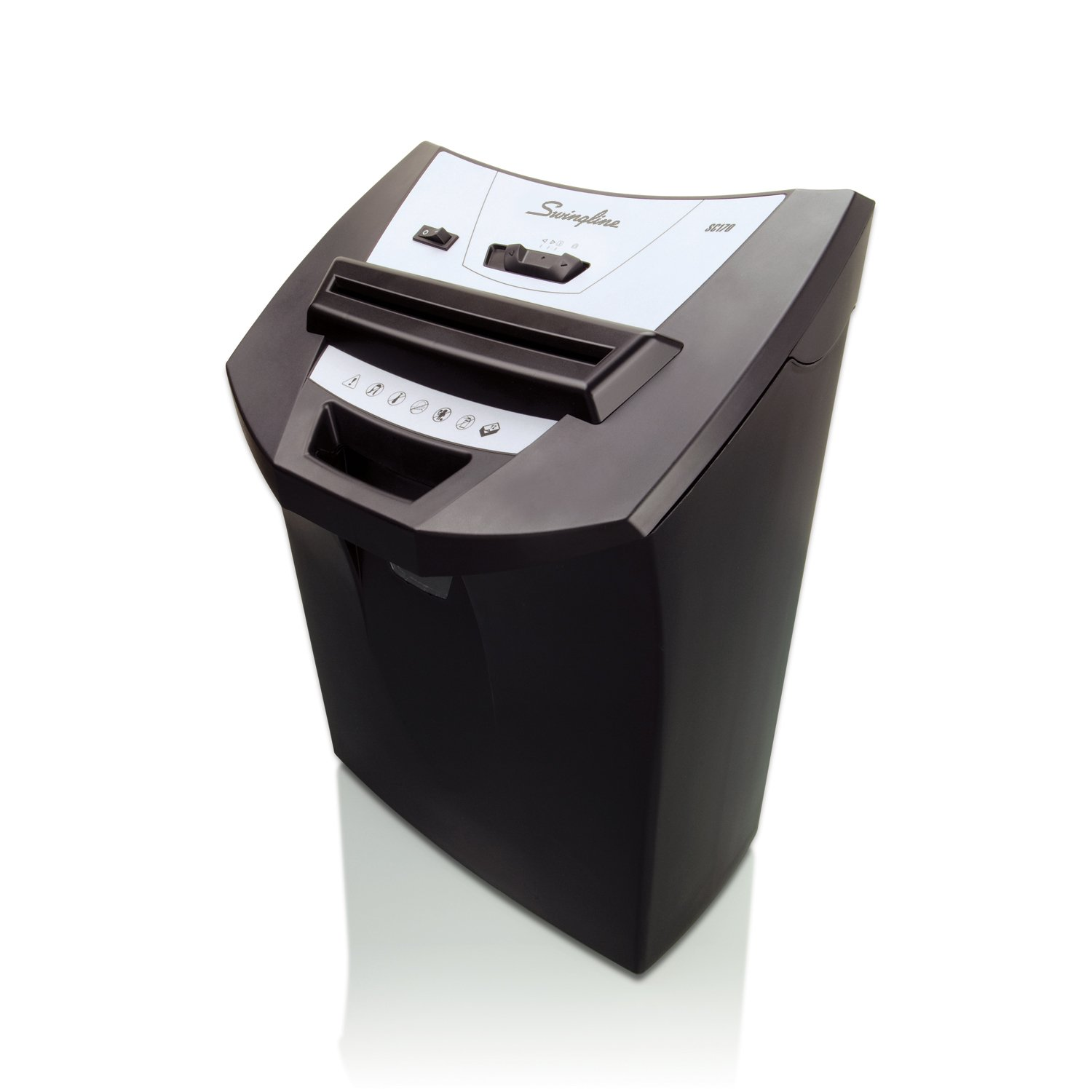 Swingline SC170 ShredMaster Strip-Cut Personal Shredder, 12 Sheet Capacity, 5.5 Gallon Waste Bin, 1 User (1757250) GBC Office Equipment