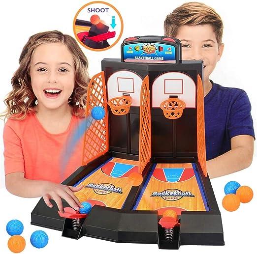 ESPLAY Basketball de Escritorio Mini Finger Shoot Basket Juegos de Mesa para niños Double Play Juego de interacción para 2 Jugadores Modelo Regalo de cumpleaños: Amazon.es: Hogar