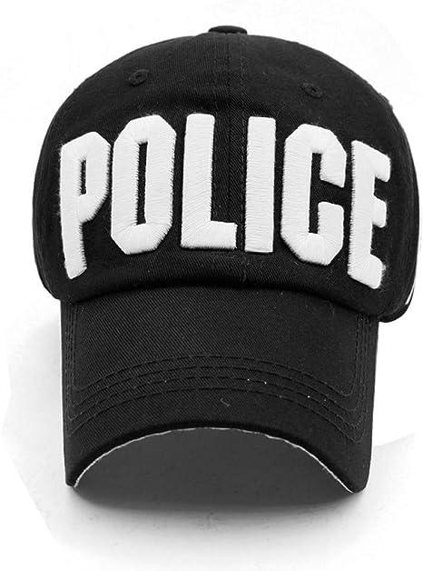 N / A Gorra de Beisbol Gorra de béisbol de la policía para Adultos y niños Letras Bordadas de algodón Gorras para Damas al Aire Libre Casual niñas niños Gorra Trasera: Amazon.es: