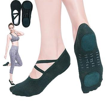 LieYuSportFF Calcetines Yoga Antideslizantes Mujer,Calcetin ...