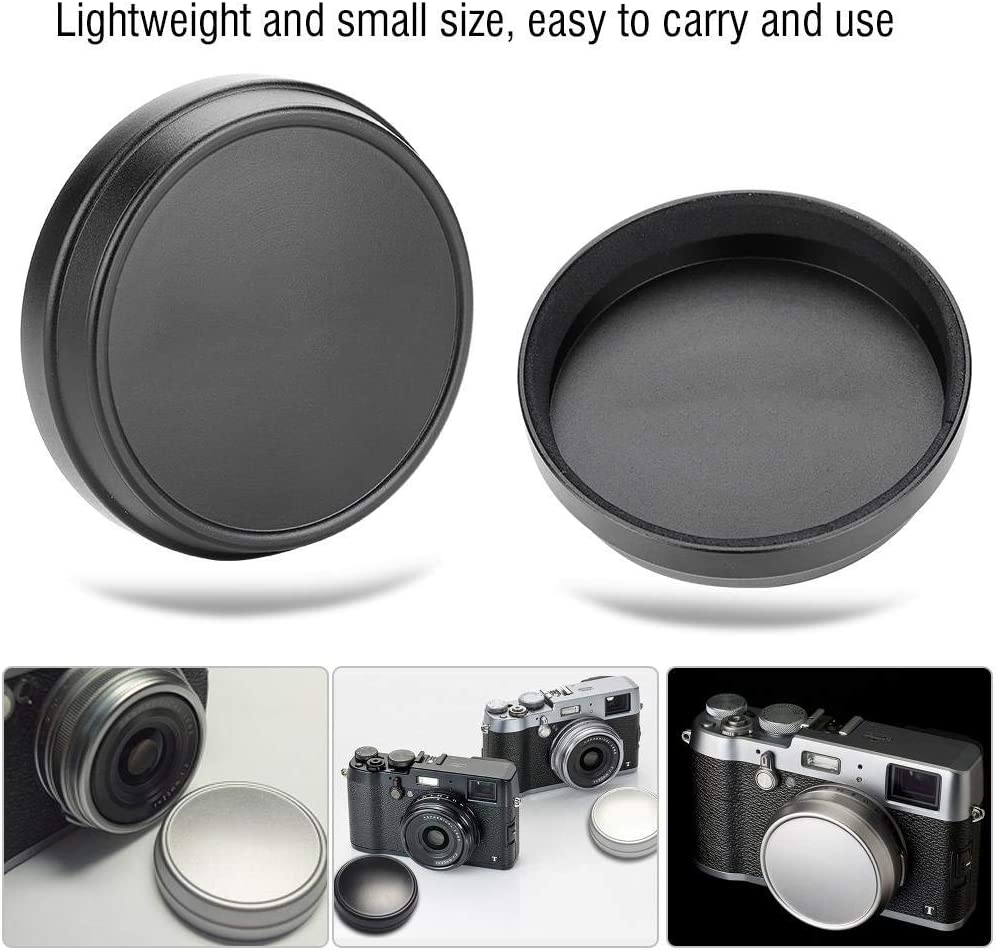 Vbestlife Front Body Cap,Professional Lens Metal Front Cap for Fujifilm X100 X100S X100T Photography Accessory. Silver