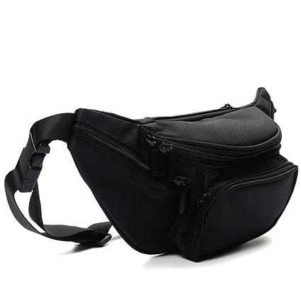 d59d10510758 Sport Fanny Pack Waist Pack 5 Zipper Pockets for Men Women Waterproof Front Pouch  Hip Belt