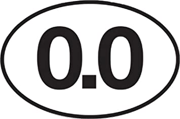 0.0 Marathon I dont Run decal 5 x 3 EURO OVAL