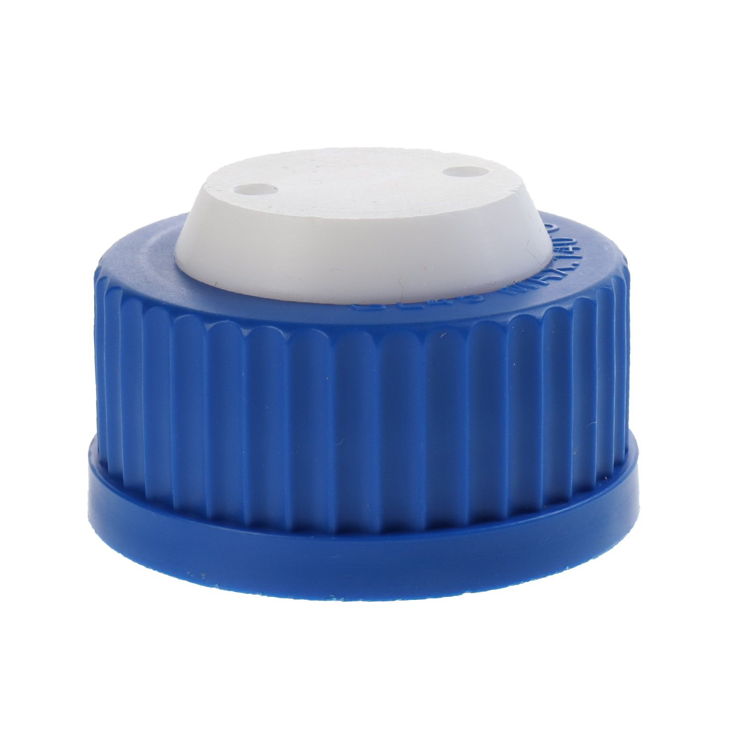 ALWSCI Blue GL45 Safety Cap withTwo Holes for 1/16 inch OD Tubing, 1pc/pk.