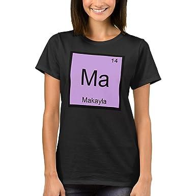 Amazon zazzle womens basic t shirt makayla name chemistry zazzle womens basic t shirt makayla name chemistry element periodic table t shirt urtaz Image collections