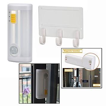 OFKPO Sensor de Movimiento Luz Nocturna a LED con Gancho, para Armarios Baño Hallway con