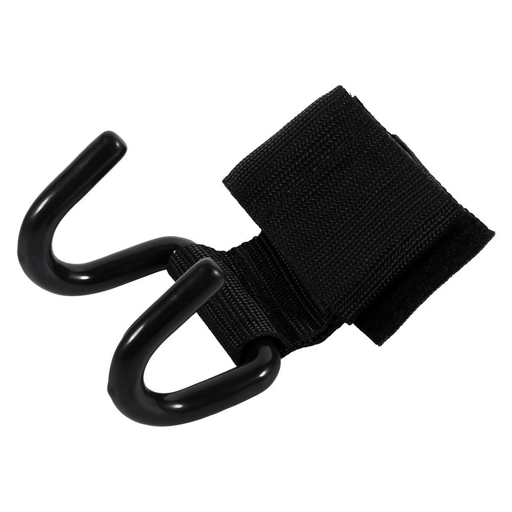 Negro levantamiento de pesas entrenamiento mu/ñequera vendaje correas gancho Gym Hook Grips