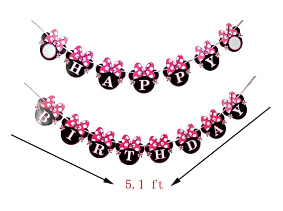 Amazon.com: Artes de dibujos animados Minnie Bow para fiesta ...
