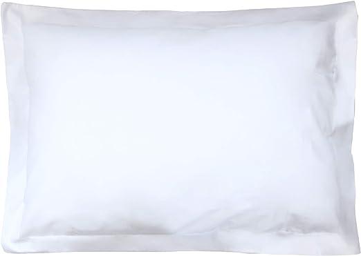 Funda de almohada algodón uni 70 x 50 – blanco: Amazon.es: Hogar
