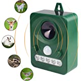 Animal Pest Repellent,Wikoo Effective Solar Battery Powered Outdoor Ultrasonic Pest and Animal Repellent, Pest and Animal Control Rodent (Green)