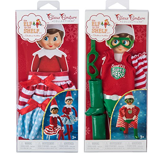 Elf on the Shelf(R) Holiday Skirts & Superhero (Girl And Boy Elf On The Shelf)