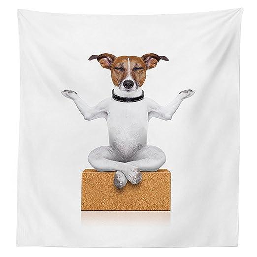 vipsung Yoga Decoración Mantel Yoga Perro Sentado Relajado ...