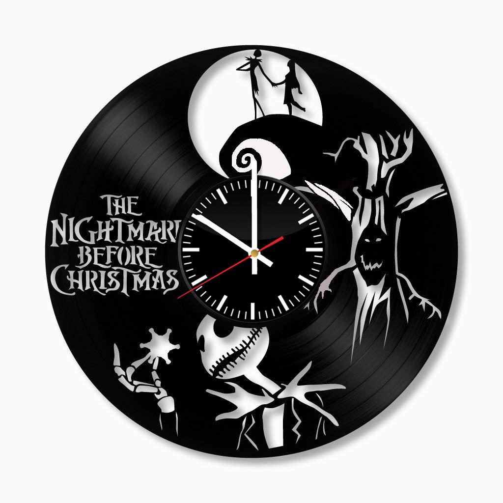 Amazon.com: Nightmare Before Christmas Vinyl Wall Clock, Art ...