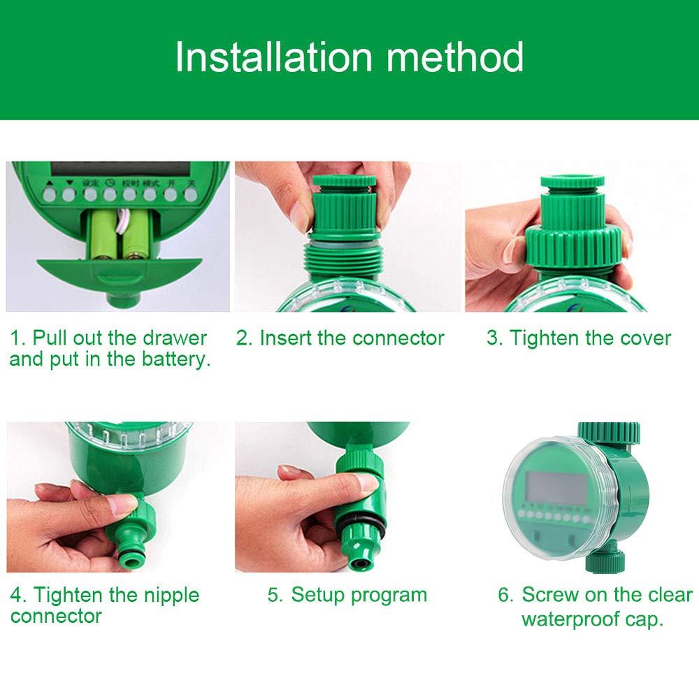 Water Timer 3/4 Irrigation Timer LCD Display 16 Program Electronic ...