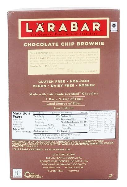 Amazon.com: Larabar Chocolate Chip Brownie -- 16 Bars: Health ...