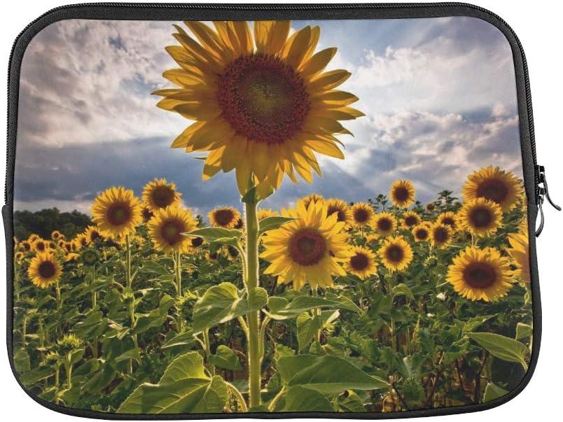 Amazon Com Design Custom Sunflower Field X Flower Wallpaper Sleeve Soft Laptop Case Bag Pouch Skin For Macbook Air 11 2 Sides Computers Accessories