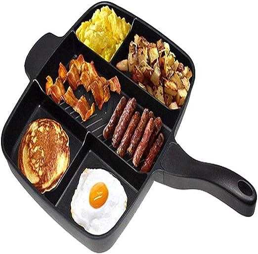 LULUDP Batería de Cocina Sartenes y ollas Sartén 5 Rejillas ...