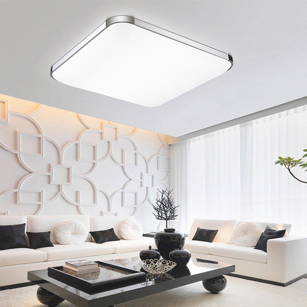 15-inch LED Flush Ceiling Light 24W Square Flush Mount Cool White Lighting Ceiling Down lighting for Kitchen Bedroom Bathroom Dining Room