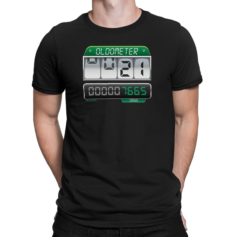 c1c5bacc323 Amazon.com  Buzz Shirts Mens 21st Birthday T-Shirt Oldometer Gift  Clothing