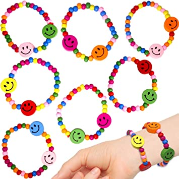 German Trendseller® - 12 x Pulseras Infantiles Smiley ...