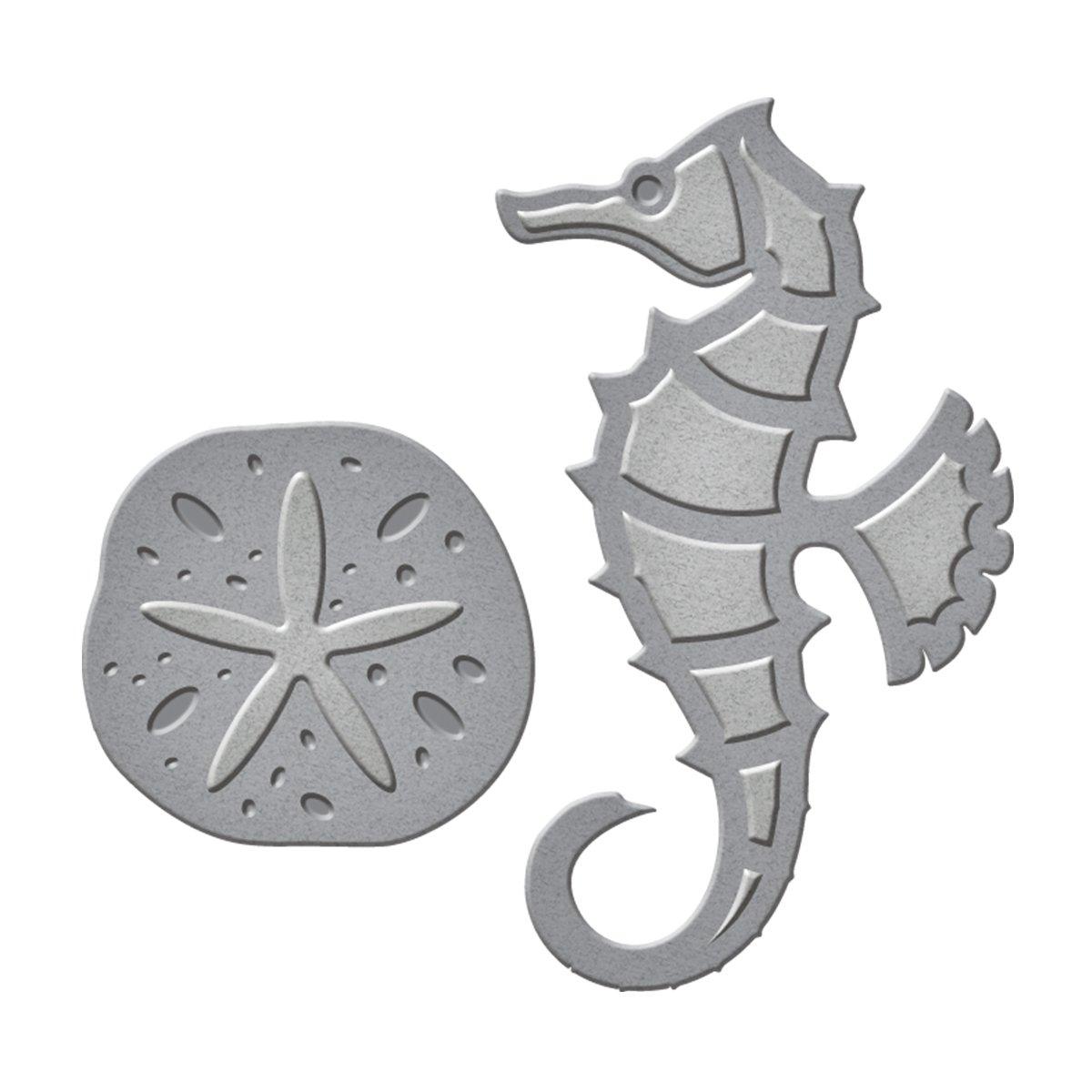 Spellbinders S1-015 D-Lites Seahorse & Sand Dollar Etched Dies by Spellbinders B01D8OQP2Q