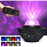 Star Projector, 3 in 1 Ocean Wave Projector Star Sky Night Light w/LED Nebula Cloud with Bluetooth Music Speaker & Timer…
