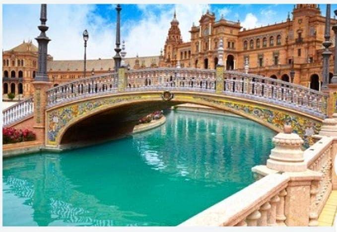 ZZXSY Adulto Puzzle 1000 Piezas Sevilla Sevilla Plaza De España Puente Andalucía España Plaza Adecuado para La Decoración del Hogar.: Amazon.es: Hogar