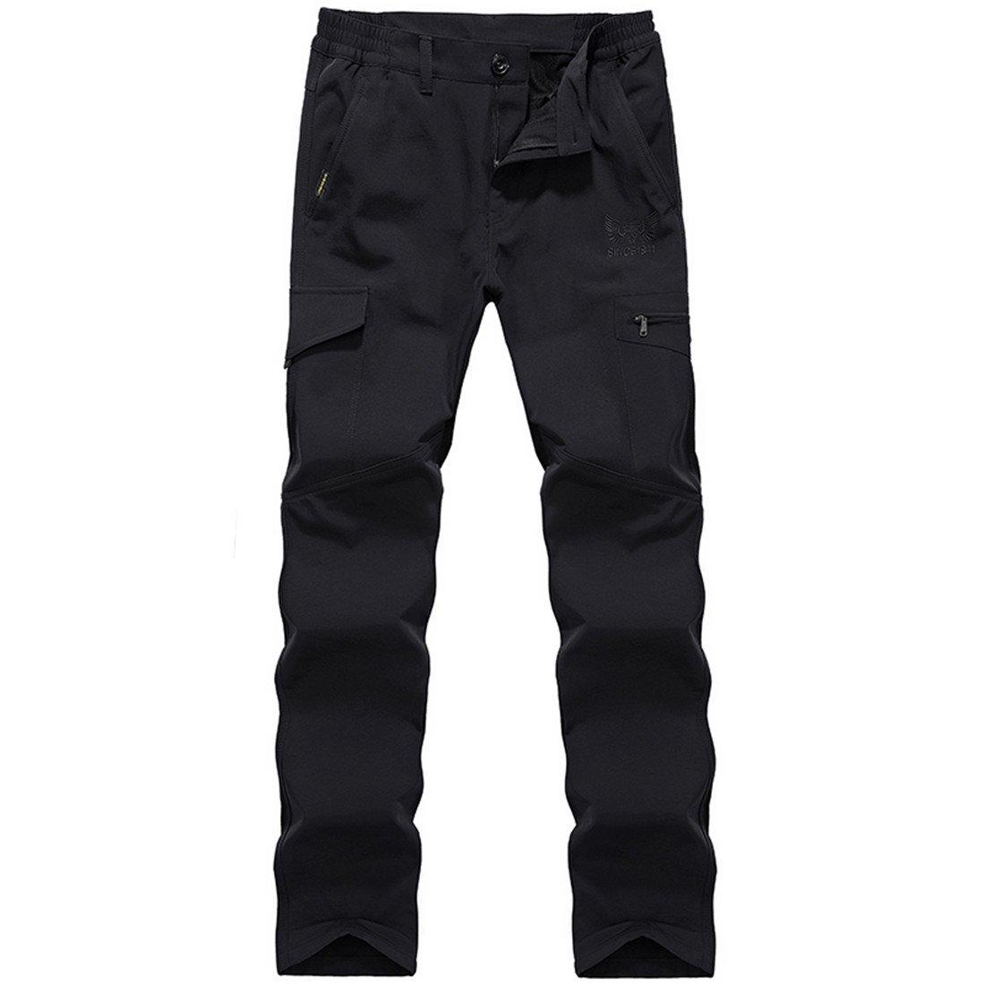 KAISIKE PANTS メンズ B075WV24L1 M/W29-30|Black-thick Black-thick M/W29-30