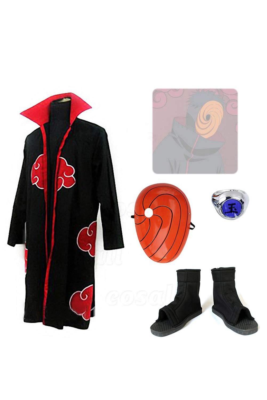 RedJade Naruto Uchiha Obito Conjunto Completo Traje de ...