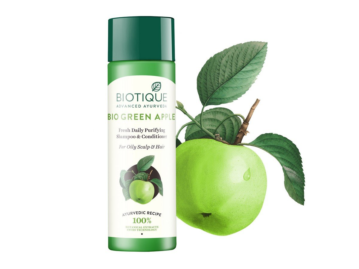 Biotique Green Apple Fresh Daily Purifying Shampoo And Conditioner Cussons Kids 2 In 1 Nourish 200ml For Oily Hair Scalp 210ml Beauty