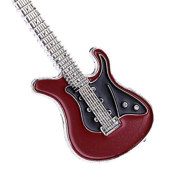 Amazon.com: Adasea 6 piezas llavero de guitarra Mini llavero ...