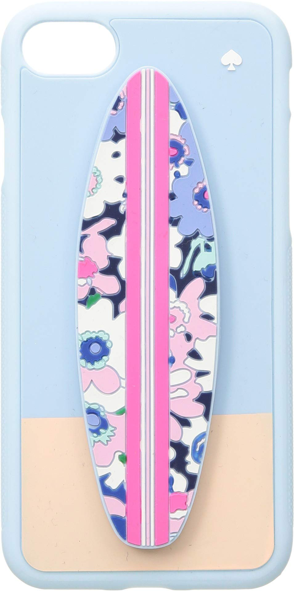 Kate Spade New York Women's Silicone Surfboard Stand Phone Case for iPhone 8 Blue Multi One Size