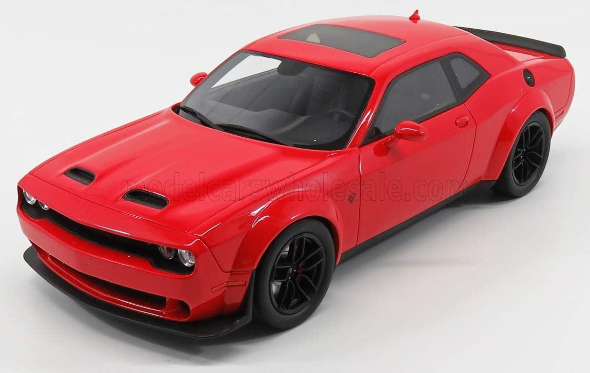 Dodge Challenger SRT Hellcat Redeye Widebody 2019 rot Modellauto 1:18 GT Spirit