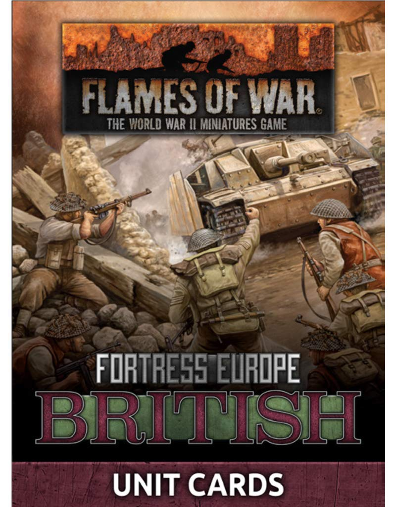 Fortress Europe Unit Cards Late War FW261U British Flames of War
