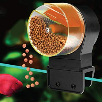 Biback Alimentador automático de Peces, alimentador Digital automático para Acuario, alimentador de Tortugas de