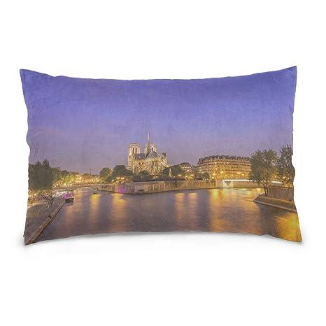 Funda de almohada de color Notre Dame De Paris Hermosa ...