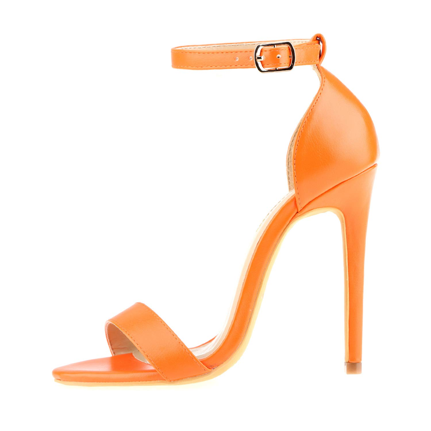 243ee39ecb Amazon.com   Women's Open Toe Stiletto High Heel Ankle Strap Sandals for  Dress Wedding Party Evening Shoes   Heeled Sandals