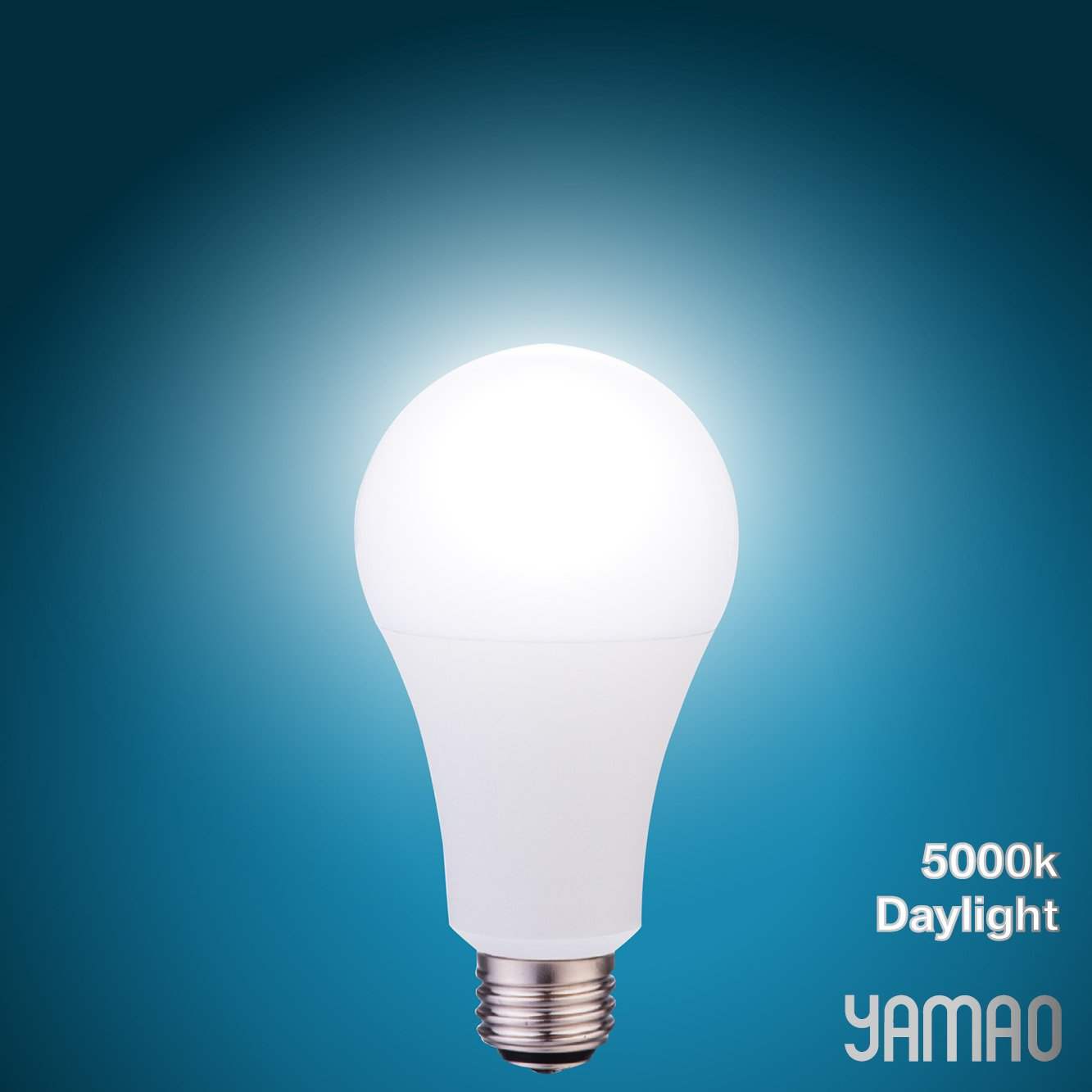 LED Light Bulbs 3-Way 50/100/150W Equivalent YAMAO A21 2700K Soft White Light Bulbs UL Listed 800/1500/2200LM (4 Pack)